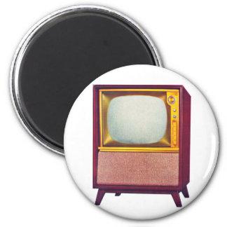 Vintage Kitsch TV Old Television Set 2 Inch Round Magnet