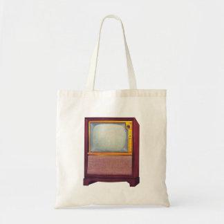 Vintage Kitsch TV Old Television Set Tote Bag