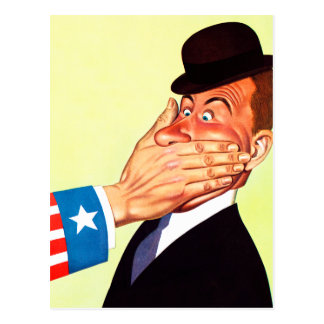 Vintage Kitsch USA Censorship Patriotism Postcard