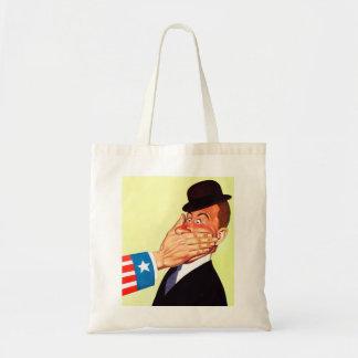 Vintage Kitsch USA Censorship Patriotism Tote Bag