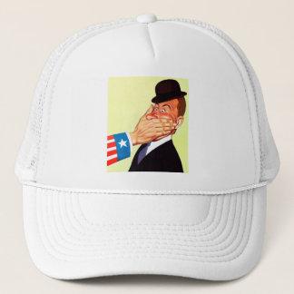 Vintage Kitsch USA Censorship Patriotism Trucker Hat