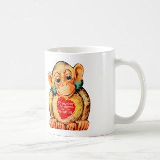 Vintage Kitsch Valentine Monkey Ape Gorillia Classic White Coffee Mug
