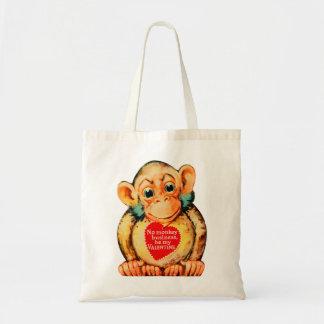 Vintage Kitsch Valentine Monkey Ape Gorillia Tote Bag