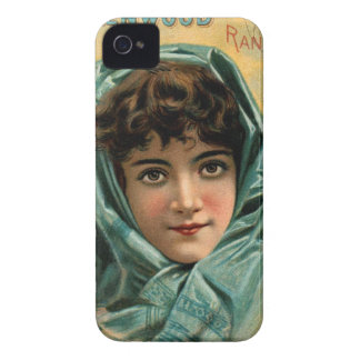 Vintage Kitsch Victorian Glenwood Stove Trade Card iPhone 4 Cover