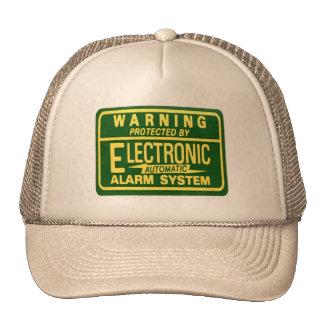 Vintage Kitsch Warning Electronic Alarm Sticker Trucker Hat