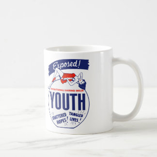 Vintage Kitsch Youth Exposed Tattered! Shattered! Coffee Mug
