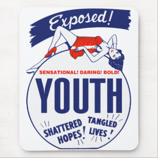 Vintage Kitsch Youth Exposed Tattered! Shattered! Mouse Pad