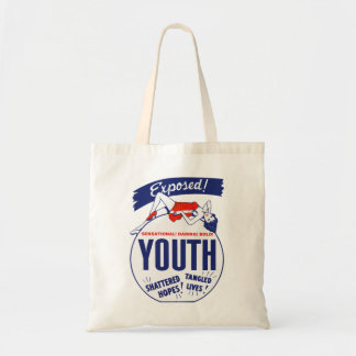 Vintage Kitsch Youth Exposed Tattered! Shattered! Tote Bag