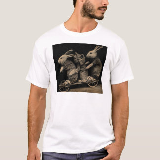 Vintage Kitten and Bunny Funny photo T-Shirt