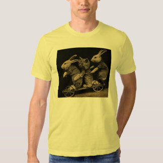 Vintage Kitten and Bunny Funny photo T Shirt