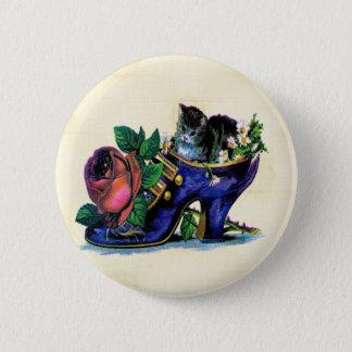 Vintage Kitten In Lady's Shoe Button