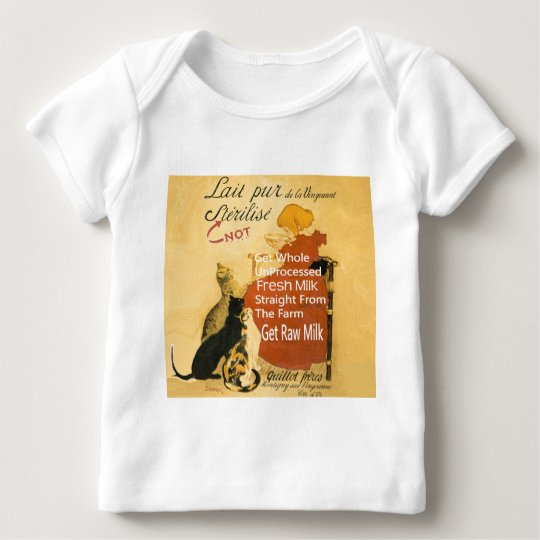 Vintage Kitten Milk Poster Baby T-Shirt