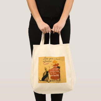 Vintage Kitten Milk Poster Tote Bag