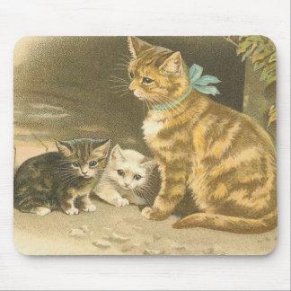 Vintage Kitten Mouse Pad