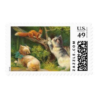 Vintage Kitten Postage