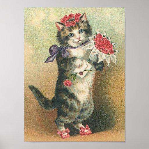 Vintage Kitten Poster