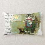 Vintage Kitten Punished at School Pillow