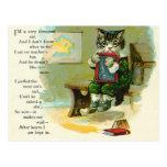 Vintage Kitten Punished at School Post Card