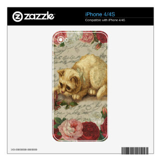 Vintage kitten skins for the iPhone 4