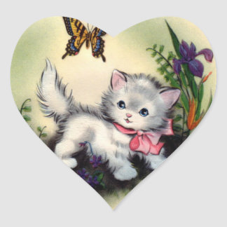 Vintage Kitten Sticker