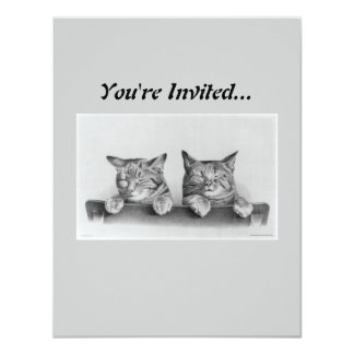 Vintage Kittens Artwork Card
