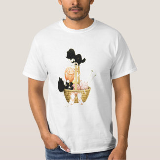 Vintage Kittens In A Basket Of Yarn T-shirt