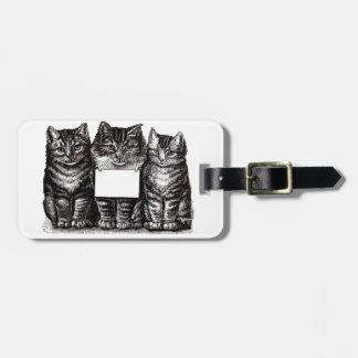 Vintage Kittens Luggage Tag