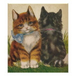 Vintage Kittens Poster