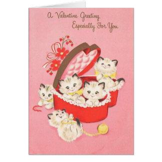 Vintage Kittens Valentine's Day Card