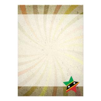 "Vintage Kittian Flag Swirl 5"" X 7"" Invitation Card"