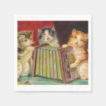Vintage Kitties paper fun napkins Paper Napkin