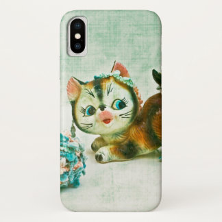 Vintage Kitty Cat iPhone X Case
