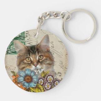 Vintage Kitty Cat KeyChain