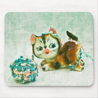 Vintage Kitty Cat Mouse Pad