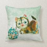 Vintage Kitty Cat Pillow