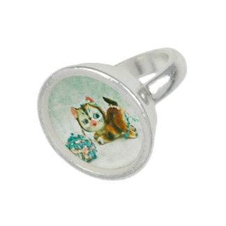 Vintage Kitty Cat Ring