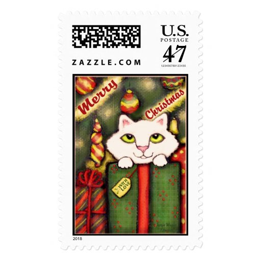 Vintage Kitty Cat  Postage Stamp - Customized
