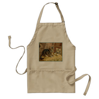 Vintage Kitty Cats - Victorian Art Adult Apron
