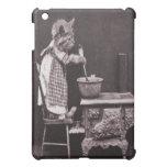 Vintage Kitty Cooking On Stove iPad Mini Case