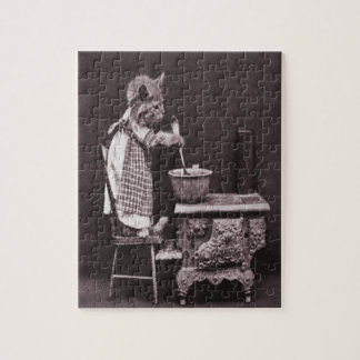 Vintage Kitty Cooking On Stove Puzzle