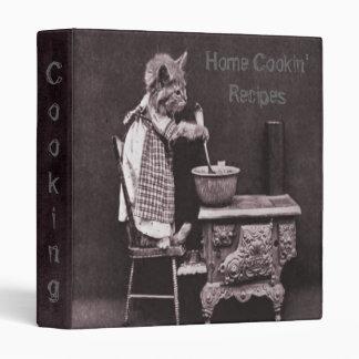 Vintage Kitty Cooking Recipe Binder