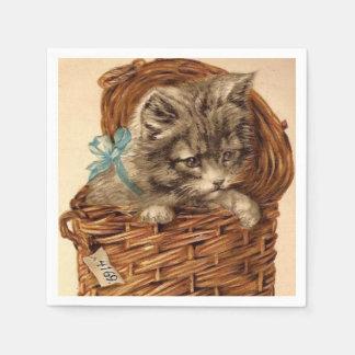 Vintage Kitty fun paper napkins