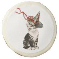 Vintage Kitty Halloween Cookie Sugar Cookie