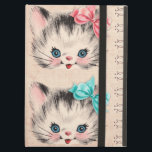 "Vintage Kitty iPad Case<br><div class=""desc"">Who can resist these two cuties?  Vintage Kitty iPad case is the perfect bundle of cuteness to wrap up your iPad.  This would be a perfect case if you have a little boy and girl who share the same iPad.</div>"