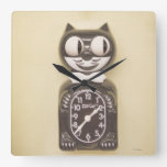 vintage Kitty Kat clock clock