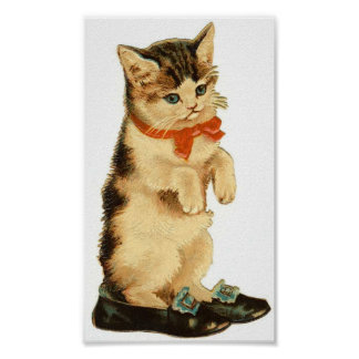 Vintage Kitty Poster