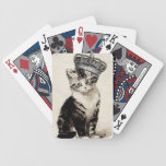 Vintage Kitty with Crown Playing Cards