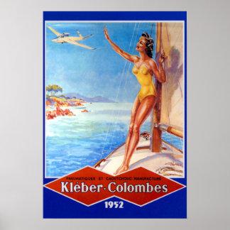 Vintage Kleber-Colombes Airplane Tires Advertiseme Poster