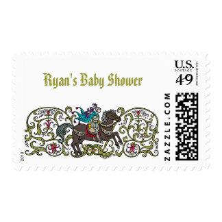 Vintage Knight Baby Shower Postage