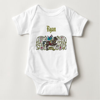 Vintage Knight Personalized Baby Bodysuit